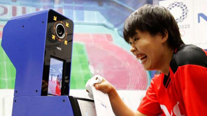 Ujicoba face recognition jelang Olimpiade Tokyo 2020.