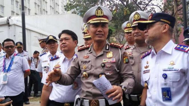 Direktur Lalu Lintas Polda Metro Jaya Komisaris Besar Polisi Yusuf