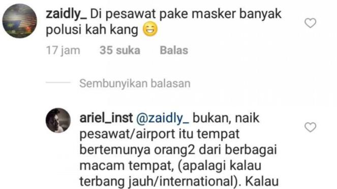 Ariel NOAH balas komentar penggemar