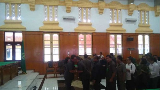 Ketua PN Medan, Marsudin Nainggolan lakukan acara perpisahan