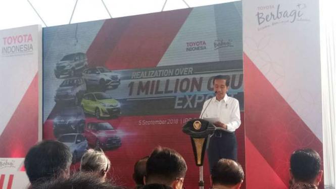 Presiden Jokowi di Pelabuhan Tanjung Priok, Jakarta
