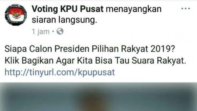 Voting KPU terkait pemilihan presiden