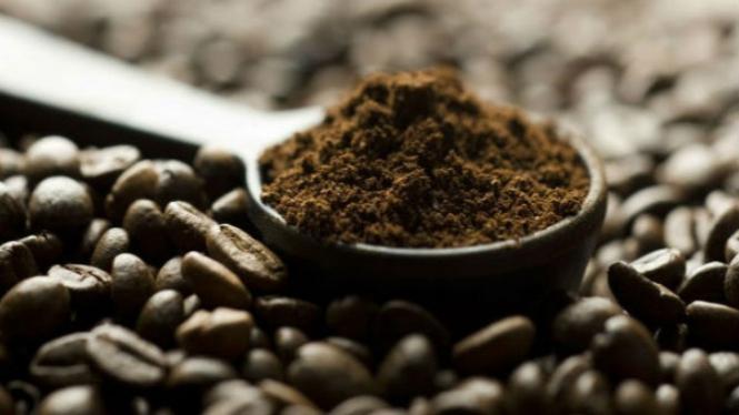 Ilustrasi bubuk kopi.