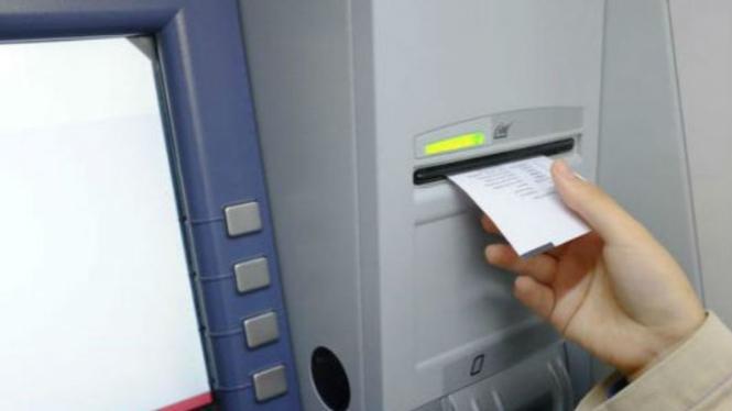 Ilustrasi struk ATM.
