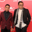 Muhammad Khan (kiri) dan Garin Nugroho di The 75th Venice International Film Festival.
