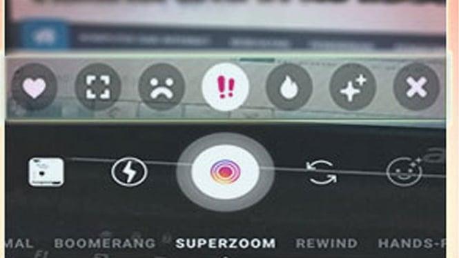 Instagram Superzoom.