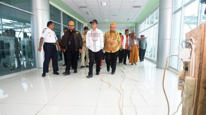 Komisi V Tinjau Progres Pembangunan Terminal Bandara Tjilik Riwut