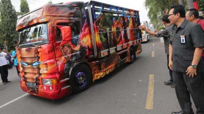 Truk modifikasi milik Siswoyo yang telan dana Rp300 juta.