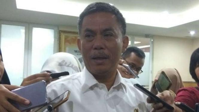 Ketua DPRD DKI Jakarta Prasetyo Edi Marsudi di Jakarta, Rabu, 12 September 2018.