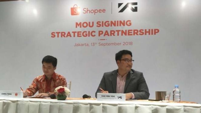 MoU Signing Strategic Partnership Shopee dan YG