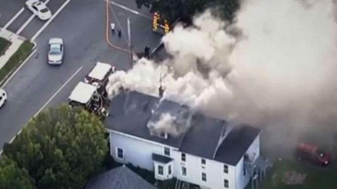 Ledakan gas besar di pinggiran Boston, Amerika Serikat