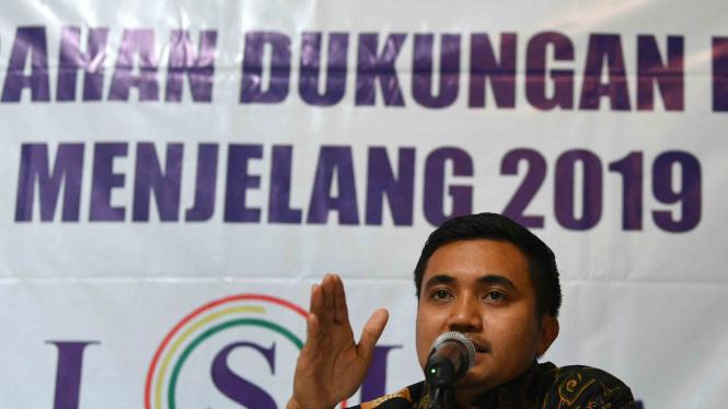 Peneliti LSI Denny JA, Adjie Alfaraby.