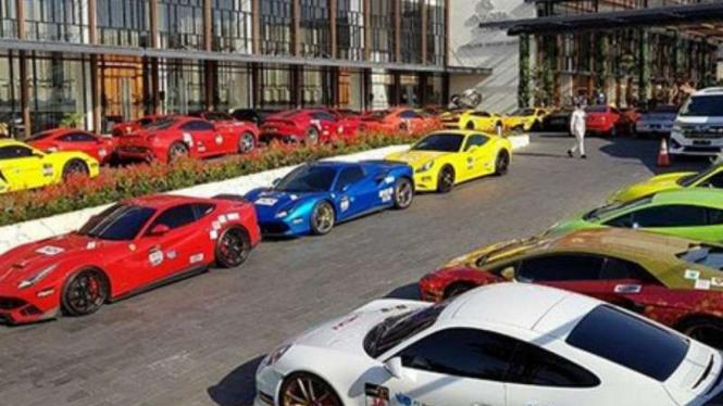 Supercar milik anggota supercar Brotherhood Club Indonesia (BCI)