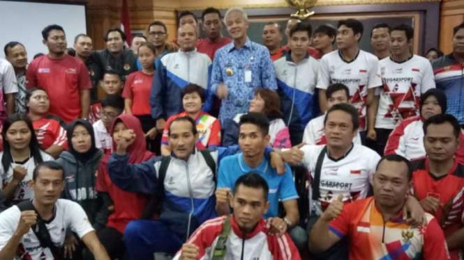 Janji-janji Ganjar ke Atlet Asian Para Games Asal Jateng