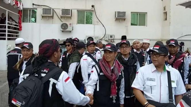 Para petugas haji daker Mekah bersiap pulang ke Tanah Air.