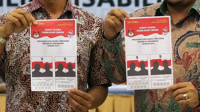 Pemilu 2019 Surat Suara Pilpres Lebih Dulu Dihitung