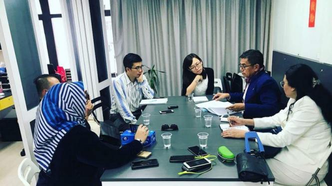 Sekjen Partai Demokrat Hinca Pandjaitan bertemu Asosiasi Junalis Hongkong