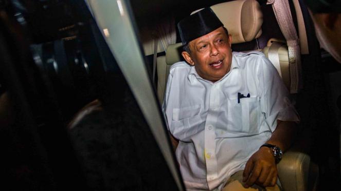 Ketua tim pemenangan Prabowo Subianto-Sandiaga Uno, Djoko Santoso meninggalkan kediaman Capres Prabowo usai mengikuti pertemuan koalisi pengusung Prabowo-Sandi di kawasan Jalan Kertanegara, Jakarta