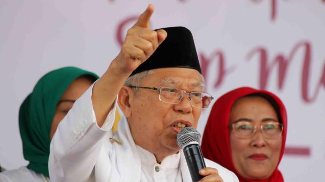 Calon Wakil Presiden nomor 01 Maruf Amin