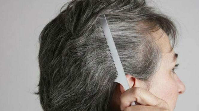 Ilustrasi rambut beruban.