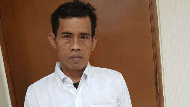Agus Faizal, pengawai Kementan yang wajahnya ada di Beras Segar.