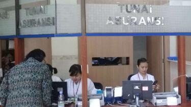 Layanan di rumah sakit Elisabeth di Semarang, Jawa Tengah.