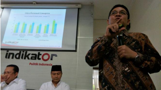 Direktur Eksekutif Indikator, Burhanuddin Muhtadi