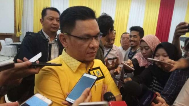 Juru Bicara Koalisi Indonesia Kerja, Tb Ace Hasan Assadzily, di kantor pusat Partai Golkar, Jakarta, pada Rabu, 26 September 2018.