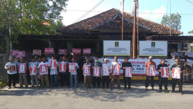 Kader dan pengurus Partai Keadilan Sosial wilayah Bali
