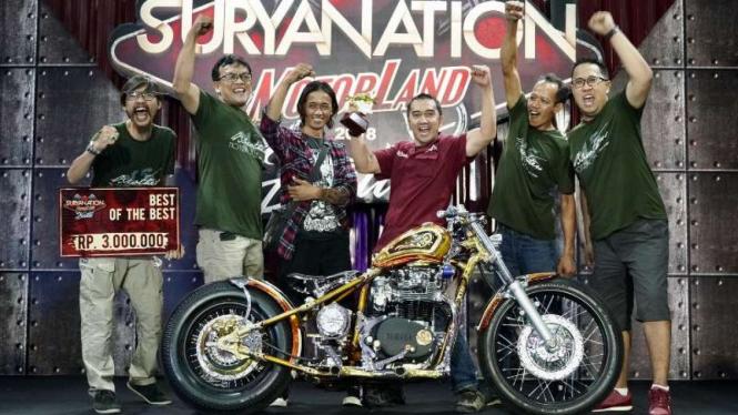 Motor custom juara Suryanation Motorland 2018 seri Surabaya