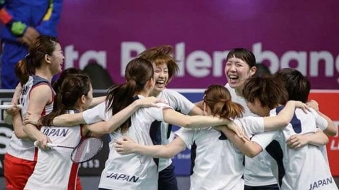 Tim bulutangkis putri Jepang.