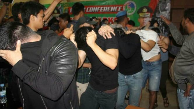 Polisi cokok pelaku pesta narkoba yang diduga penyuka sesama jenis