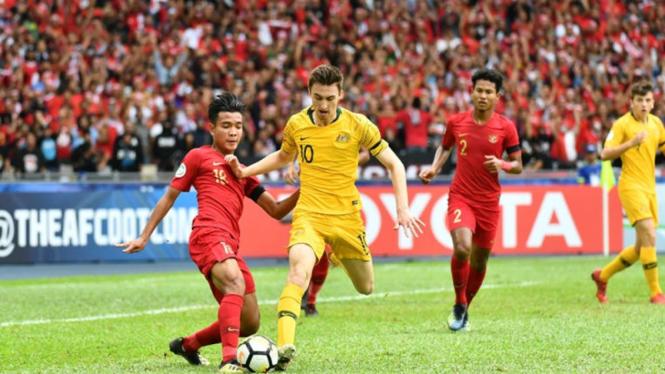 Pertandingan Timnas Indonesia U-16 vs Australia