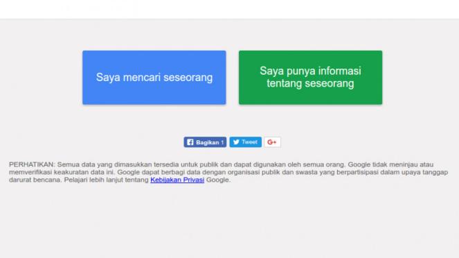 Google Perseon Finder Tsunami Palu