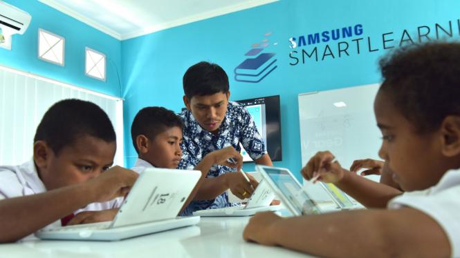 Samsung Smart Learning Class (SSLC) di Biak, Papua