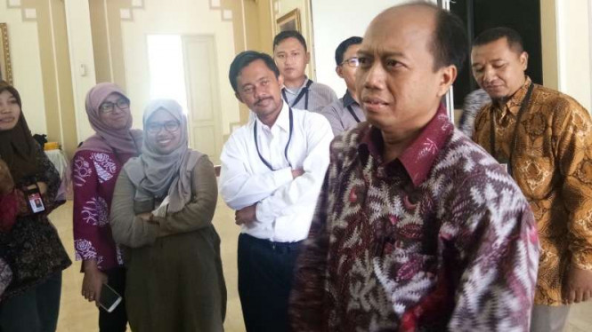 Kepala Humas BNPB Sutopo Purwo Nugroho di Istana Bogor, Jumat, 5 Oktober 2018.