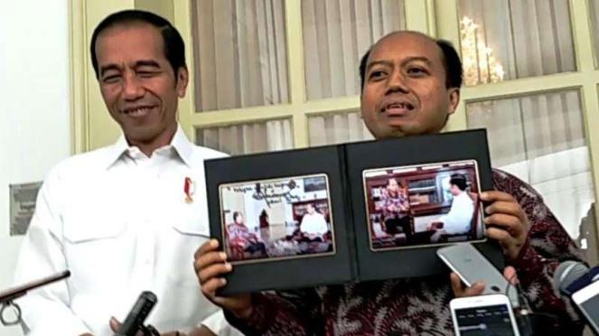 Kepala Humas BNPB, Sutopo Purwo Nugroho dan Presiden Jokowi