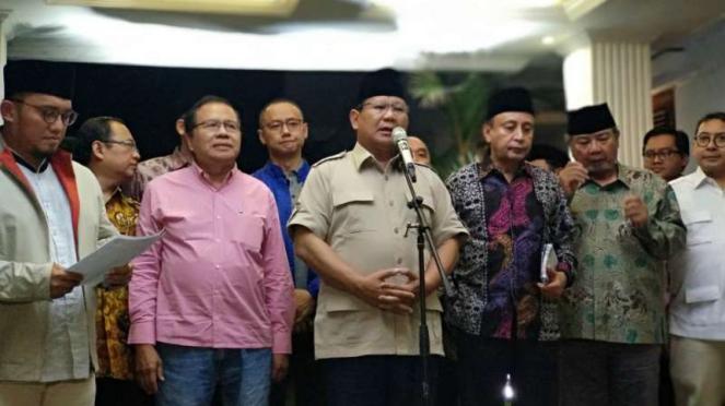 Prabowo Subianto dan tim ekonominya.