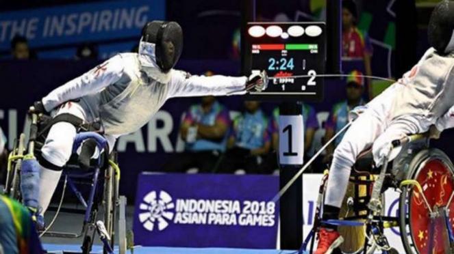 Yu Chui Yee saat kalahkan China dan rebut medali emas Asian Para Games.