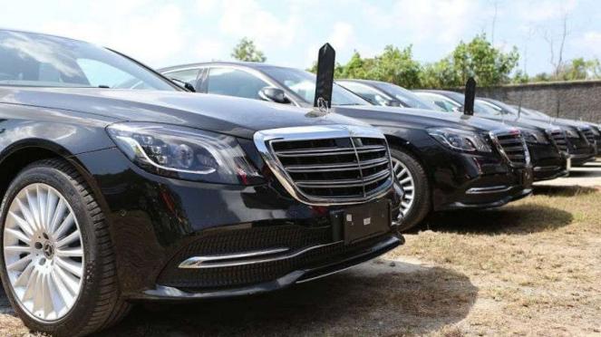 Mobil Mercedes-Benz untuk kegiatan Pertemuan IMF-World Bank 2018