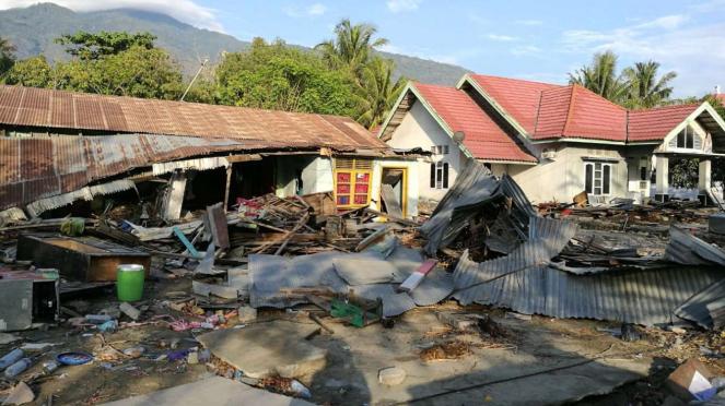 Rumah Irma yang hancur karena gempa dan tsunami