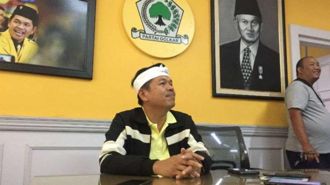 Ketua Tim Kampanye Daerah Jokowi-Ma'ruf Jawa Barat, Dedi Mulyadi, di Bandung pada Rabu, 10 Oktober 2018.