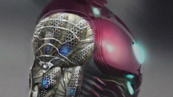 Kostum Iron Man.