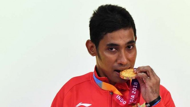Atlet tenis meja Indonesia, David Jacobs, raih medali emas Asian Para Games 2018
