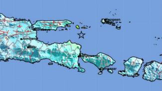 Ilustrasi peta lokasi gempa