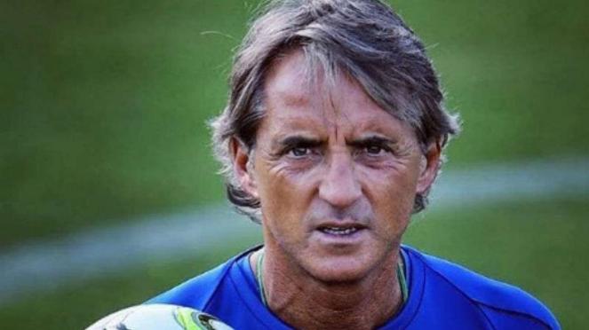 Pelatih Italia, Roberto Mancini.