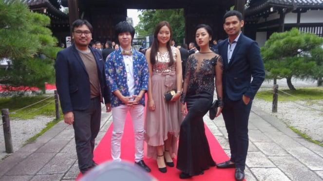 Pemain dan Sutradara Film Bayang di Kyoto, Jepang