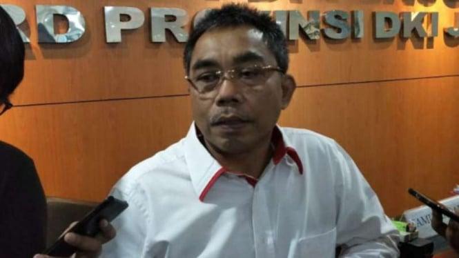 Ketua Fraksi PDIP DPRD DKI Jakarta, Gembong Warsono.