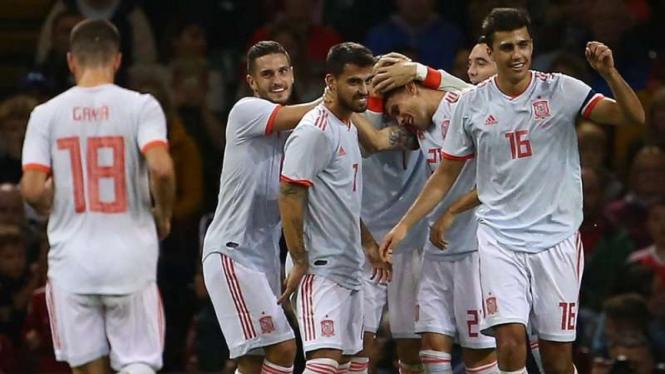 Para pemain Timnas Spanyol.