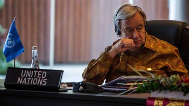 Sekretaris Jenderal Sekjen Perserikatan Bangsa-Bangsa PBB Antonio Guterres
